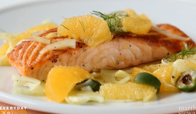 Seared Salmon with Oranges and Fennel Ingredients