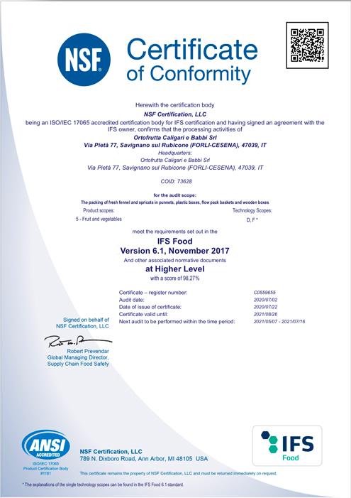 Certificate-ORTOFRUTTA-CALIGARI-E-BABBI-SRL2020