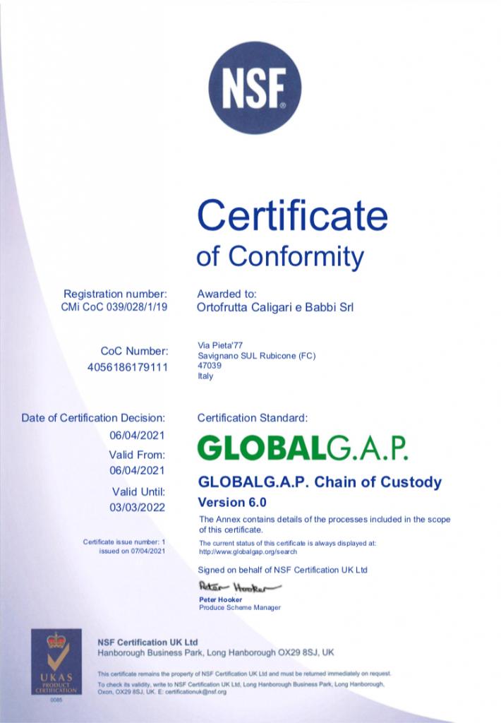 039.028 Single site GLOBALGAP CoC Certificate V6.0 2021